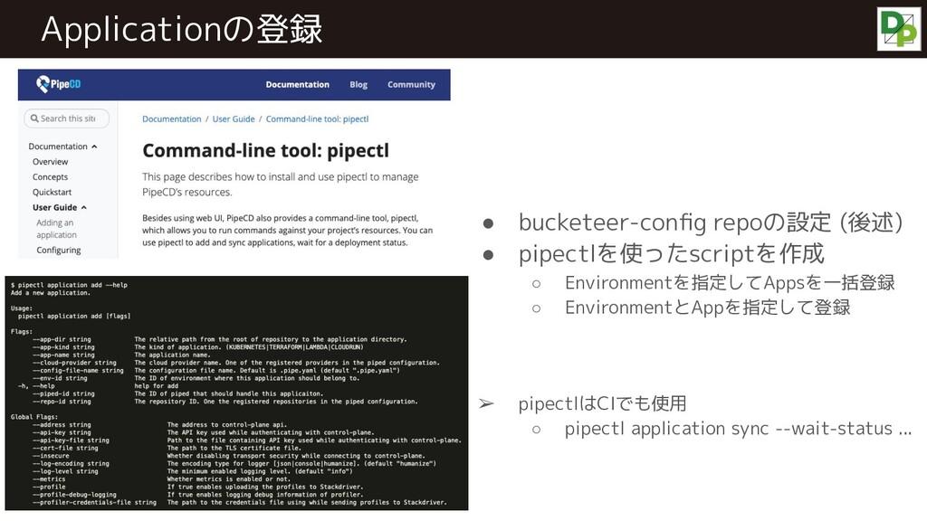 ● bucketeer-config repoの設定 (後述) ● pipectlを使ったscr...