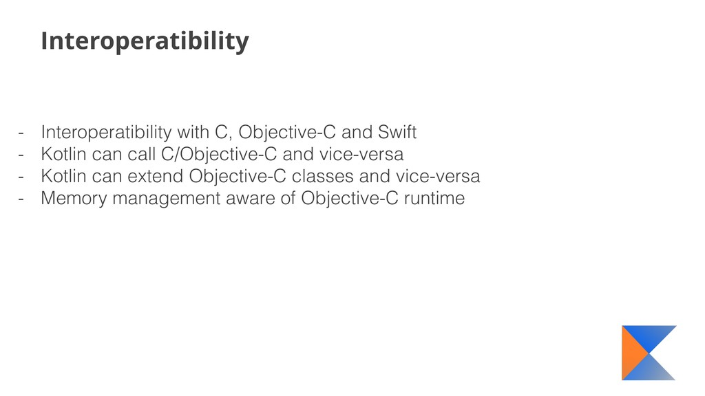 Interoperatibility - Interoperatibility with C,...