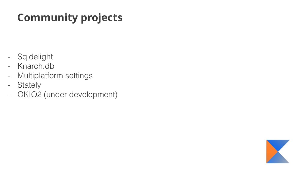 Community projects - Sqldelight - Knarch.db - M...