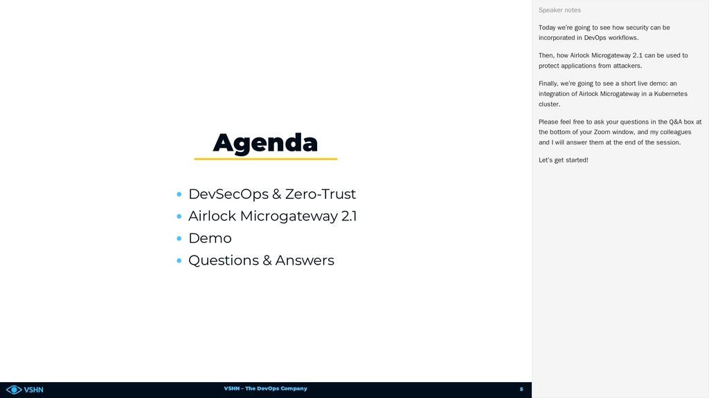 VSHN – The DevOps Company DevSecOps & Zero-Trus...