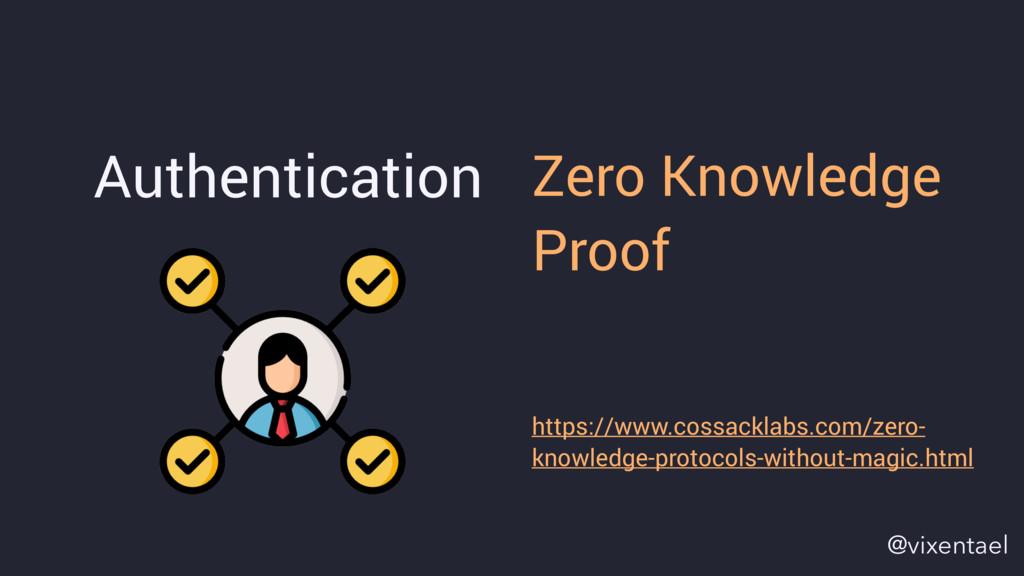 Authentication Zero Knowledge Proof https://www...