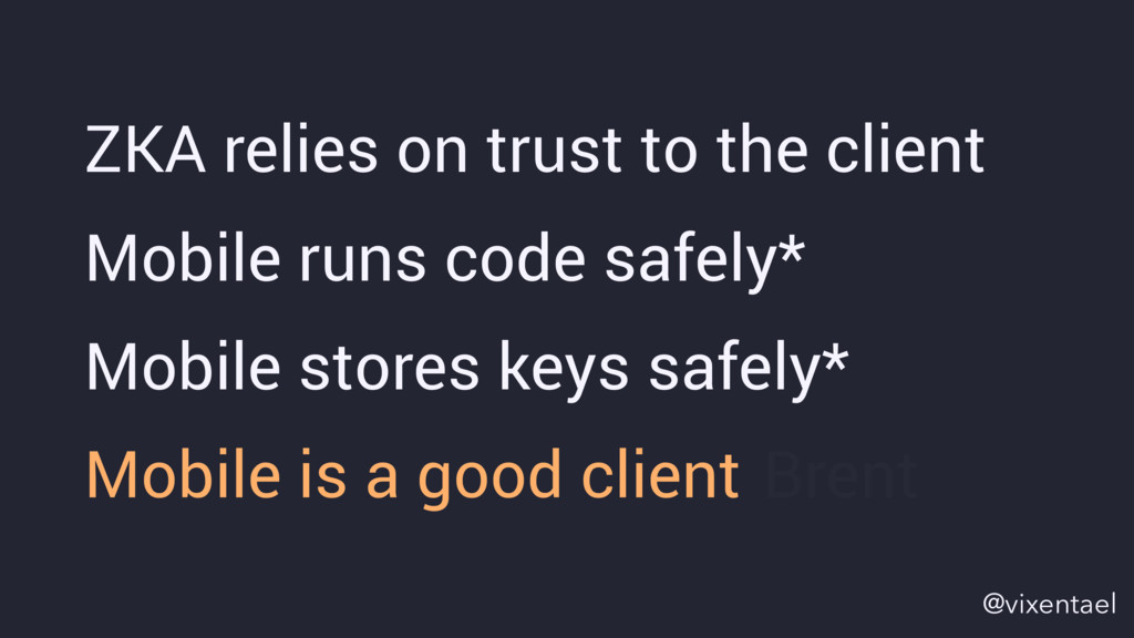 Mobile stores keys safely* ZKA relies on trust ...