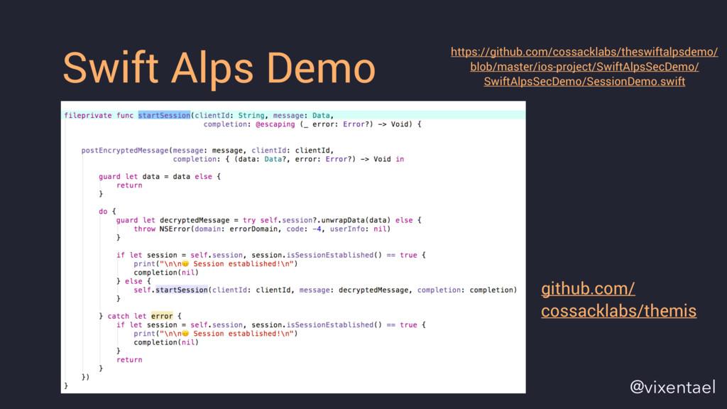 Swift Alps Demo https://github.com/cossacklabs/...