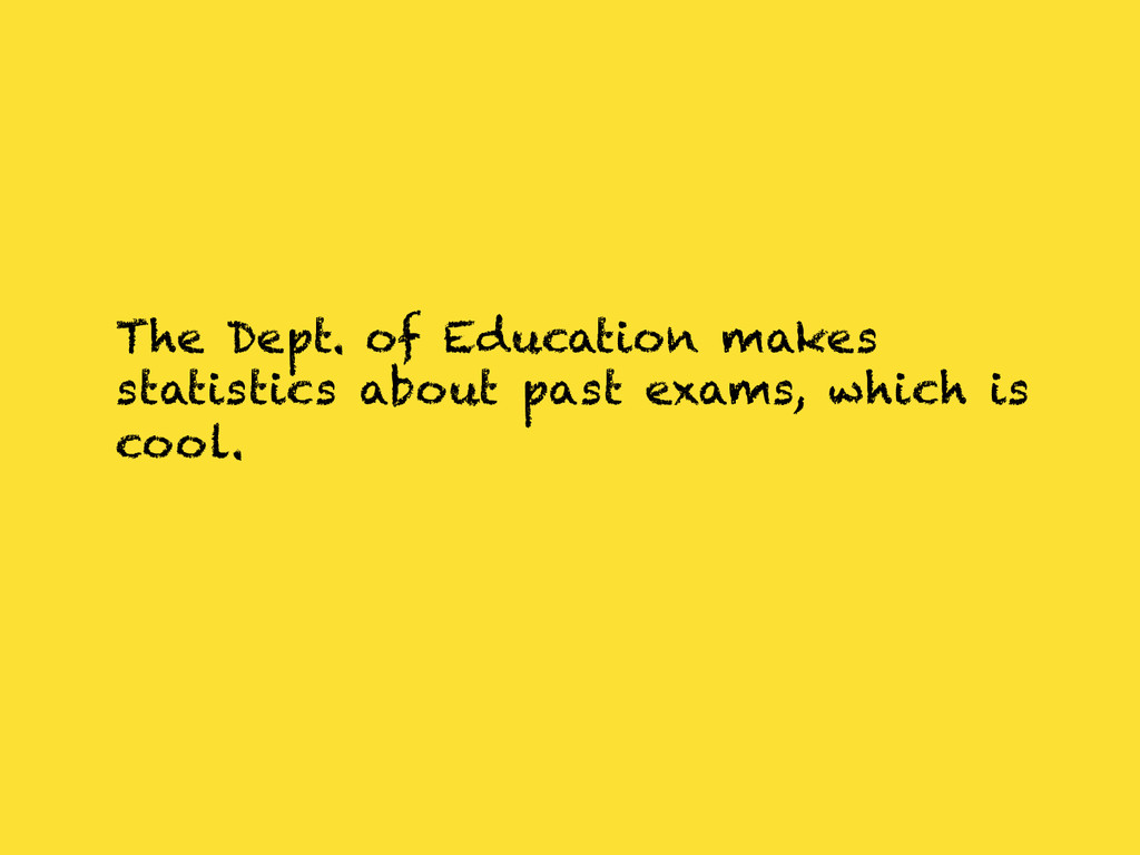 The Dept. of Education makes statistics about p...