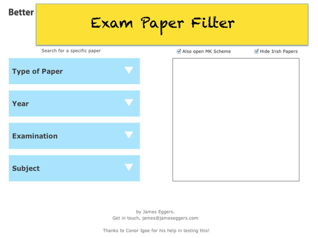 Exam Paper Filter
