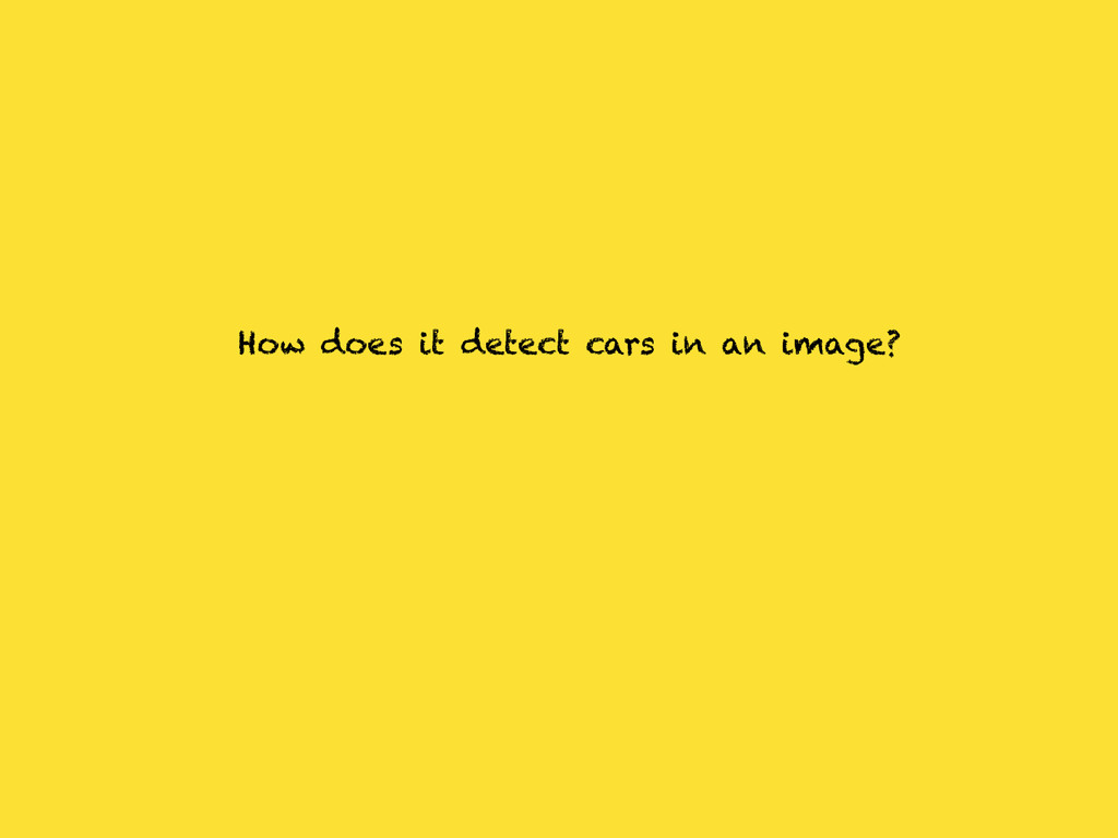 How does it detect cars in an image?