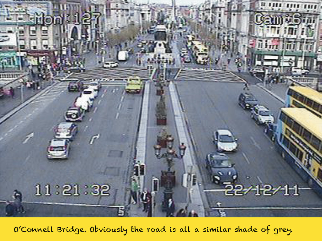 O'Connell Bridge. Obviously the road is all a s...