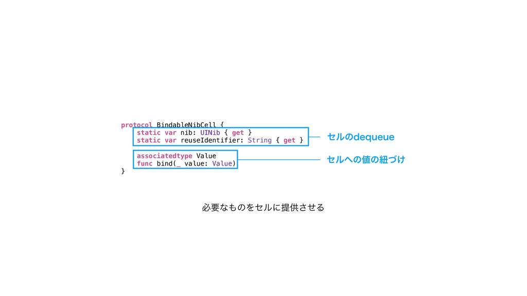 protocol BindableNibCell { static var nib: UINi...