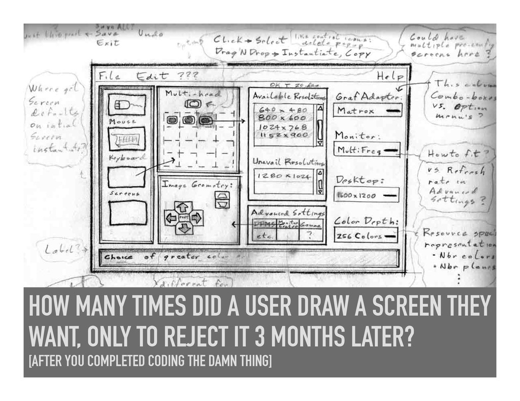 HOW MANY TIMES DID A USER DRAW A SCREEN THEY WA...