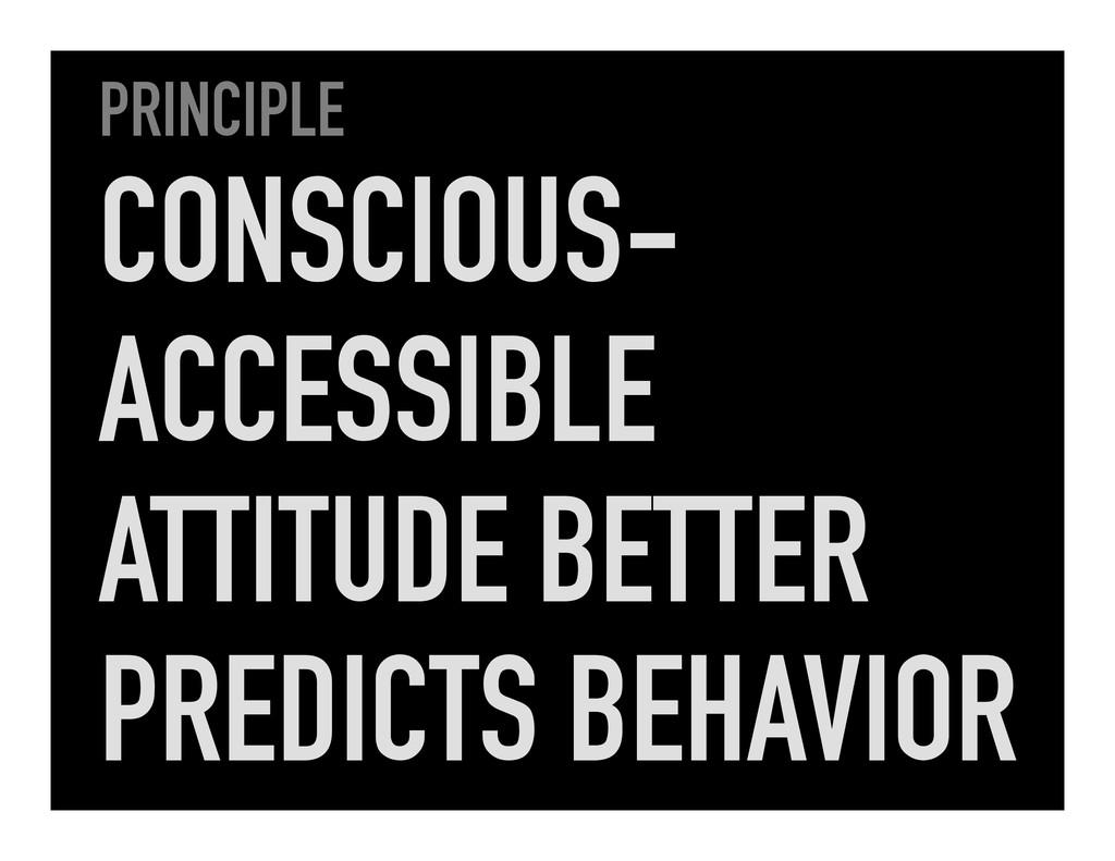PRINCIPLE CONSCIOUS- ACCESSIBLE ATTITUDE BETTER...