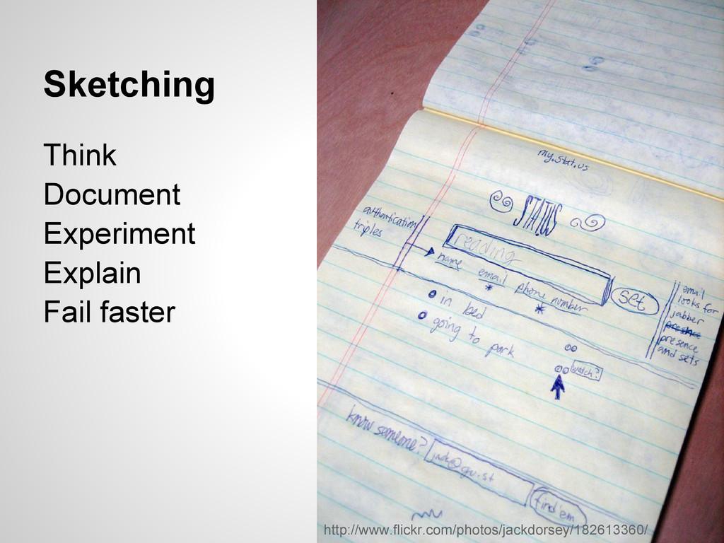 Sketching Think Document Experiment Explain Fai...