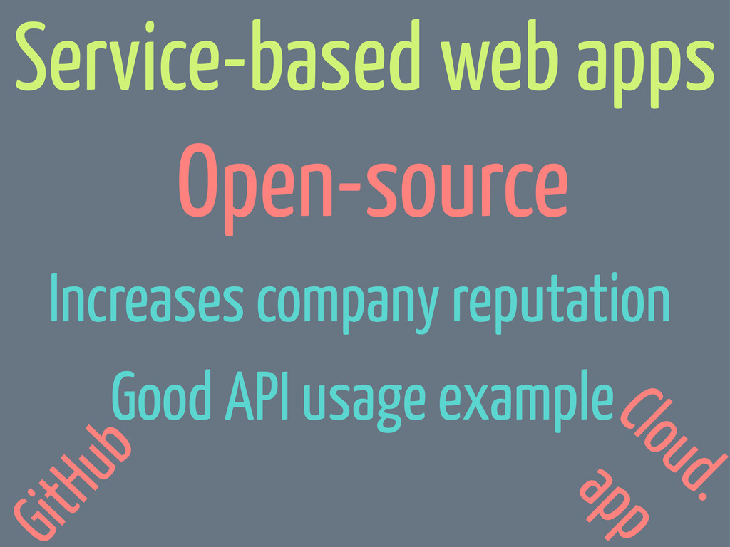 Open-source Increases company reputation Good A...