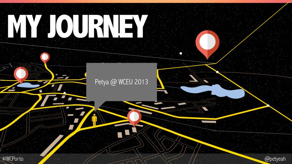 @petyeah #WCPorto MY JOURNEY Petya @ WCEU 2013