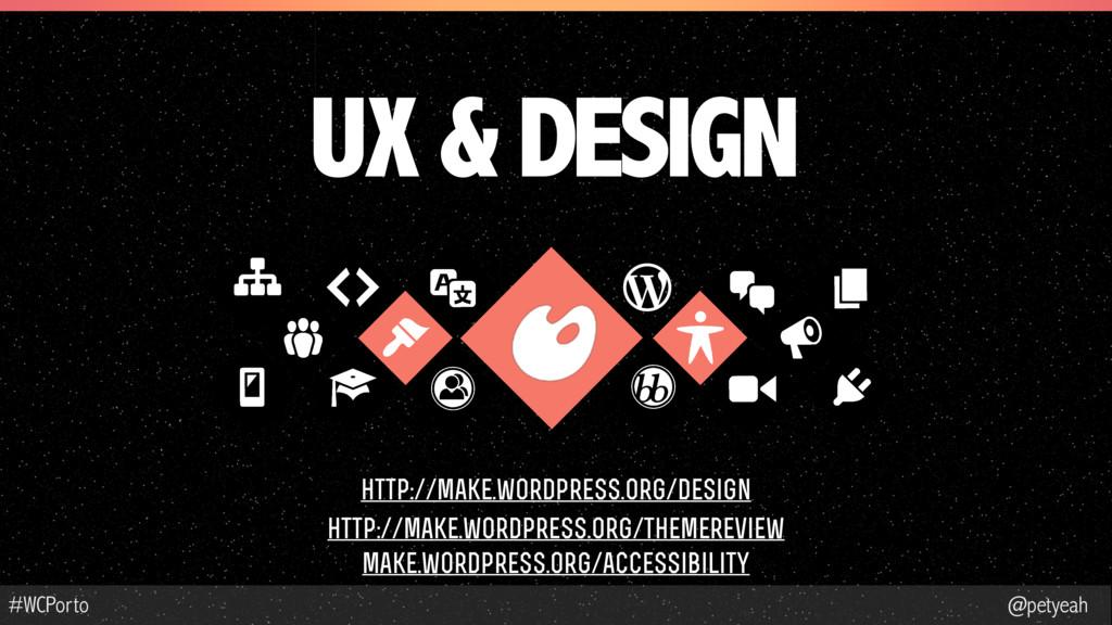 @petyeah #WCPorto UX & DESIGN http://make.wordp...