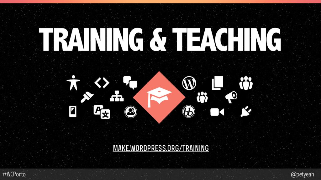 @petyeah #WCPorto TRAINING & TEACHING make.word...