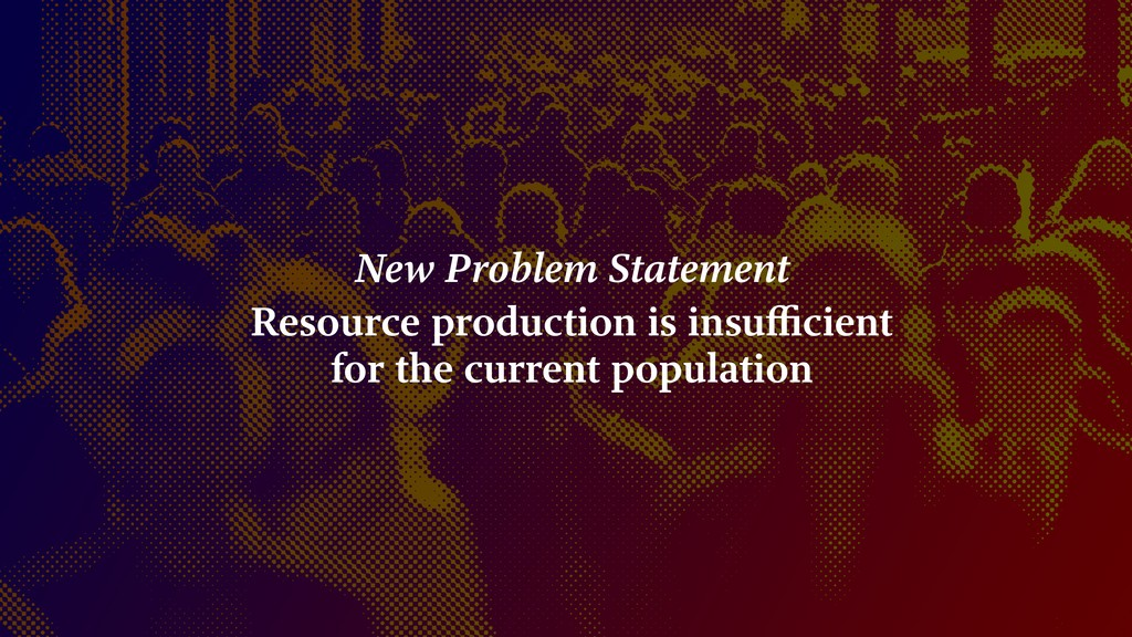 New Problem Statement Resource production is in...