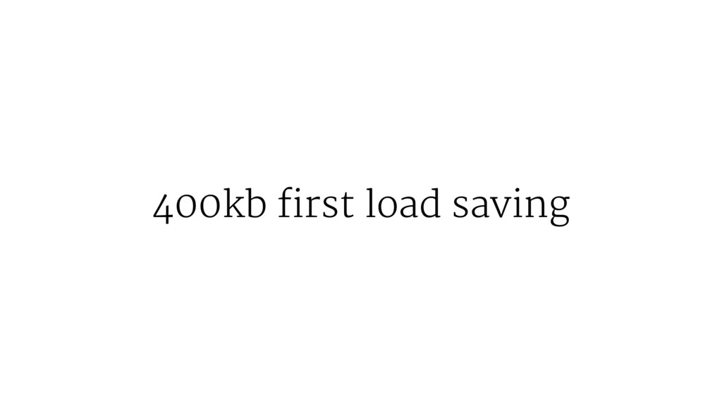 400kb first load saving