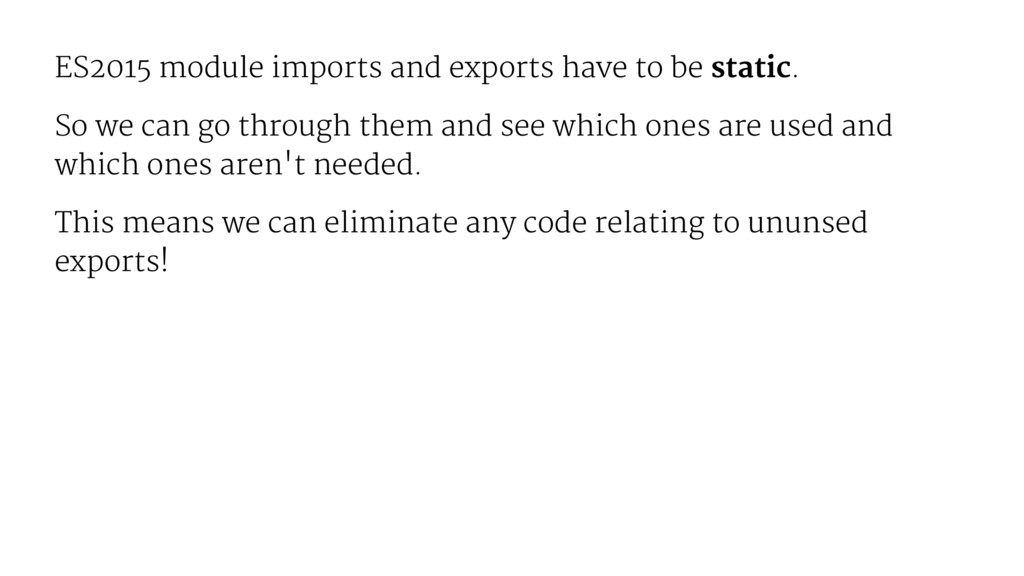 ES2015 module imports and exports have to be st...