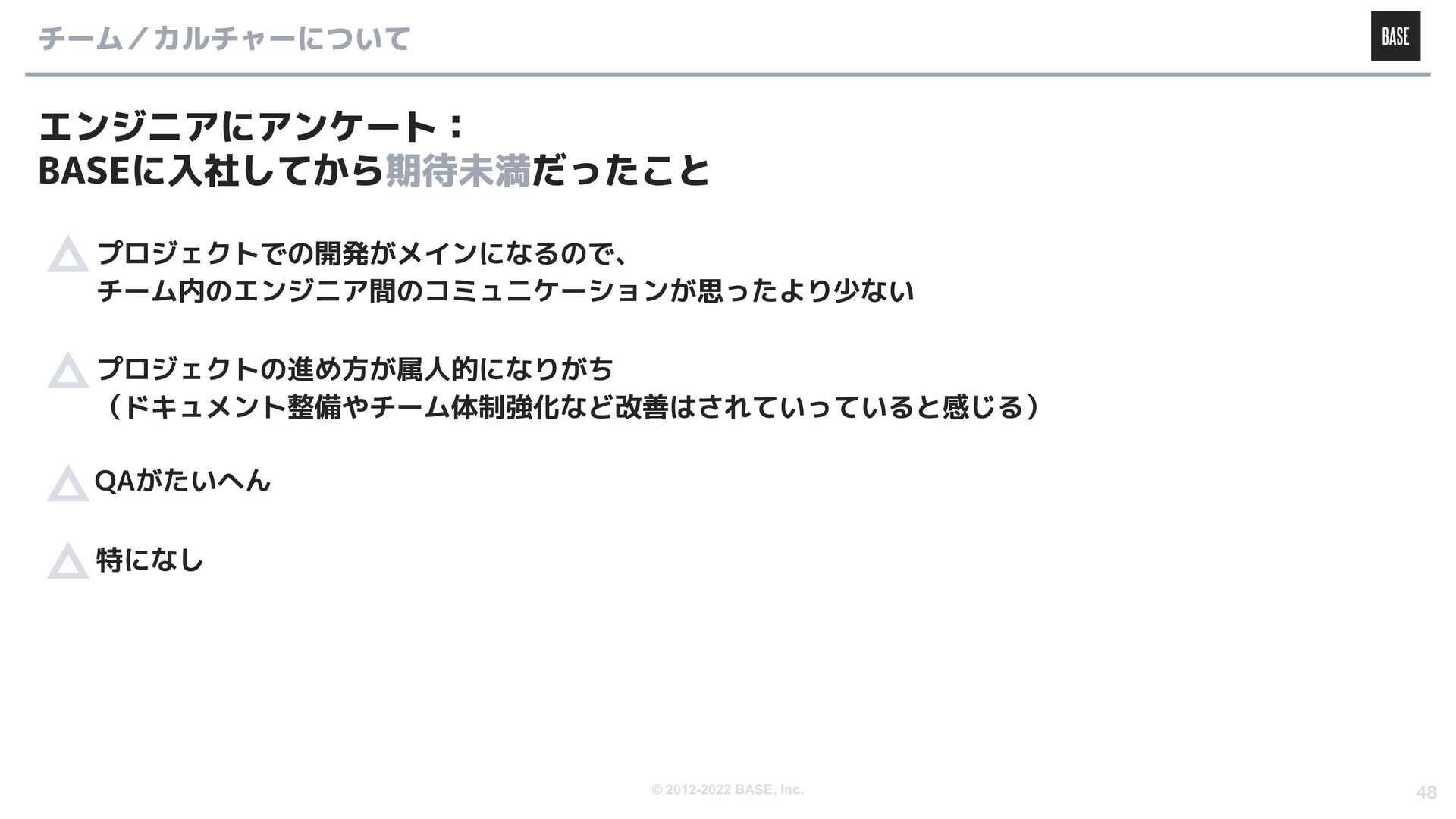 © 2012-2020 BASE, Inc. 選考について ● 候補者様・企業双方の採用ミスマ...