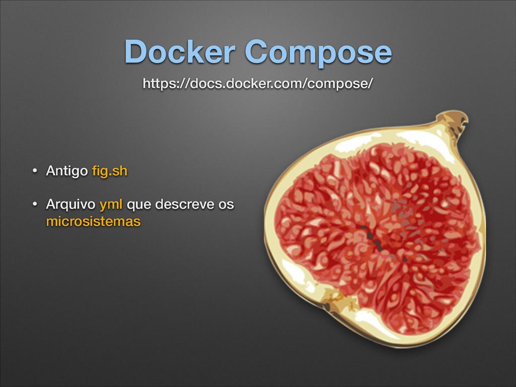 Docker Compose • Antigo fig.sh • Arquivo yml que...
