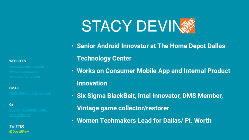 STACY DEVINO • Senior Android Innovator at The ...
