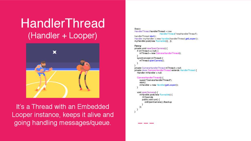 HandlerThread (Handler + Looper) It's a Thread ...