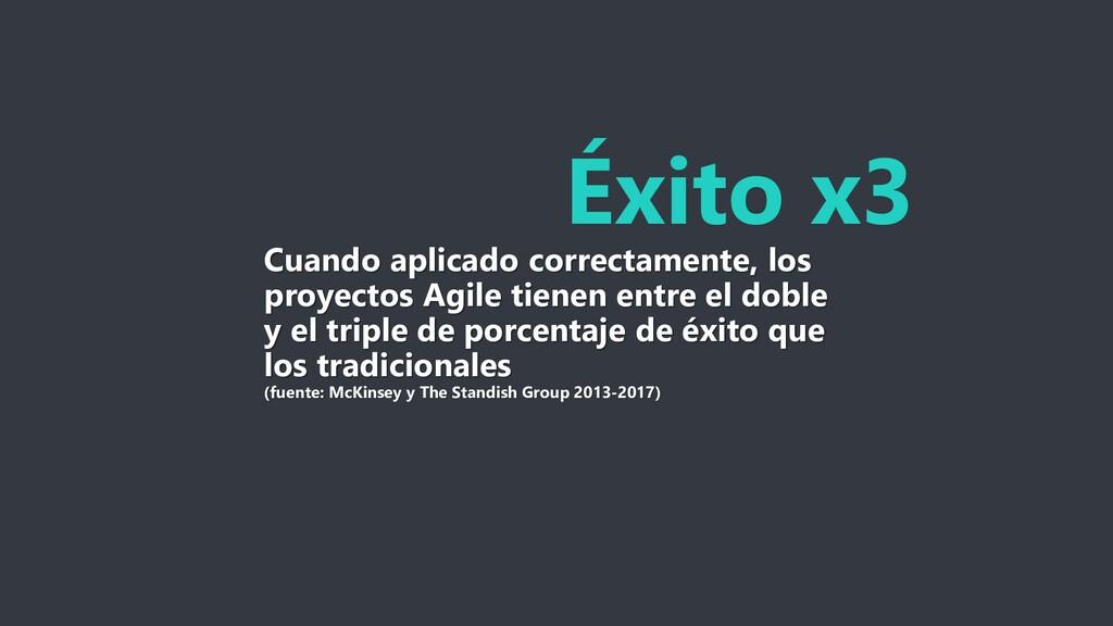 Éxito x3 Cuando aplicado correctamente, los pro...