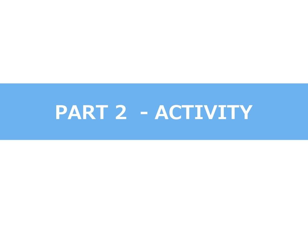 PART 2 - ACTIVITY