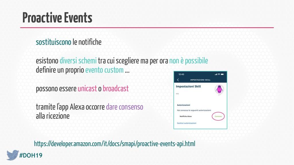 #DOH19 Proactive Events sostituiscono le notifi...