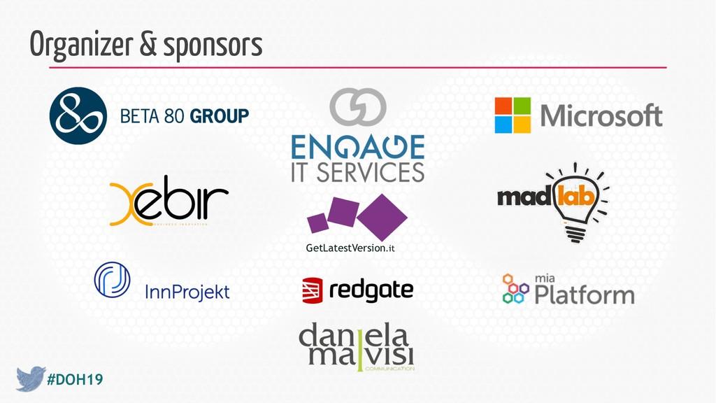 #DOH19 Organizer & sponsors GetLatestVersion.it