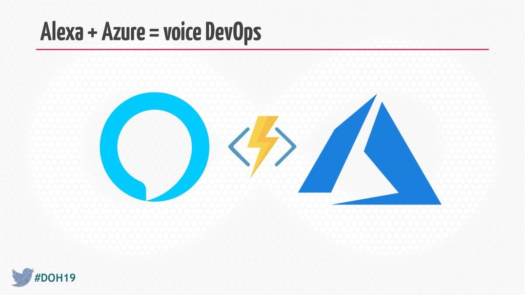 #DOH19 Alexa + Azure = voice DevOps