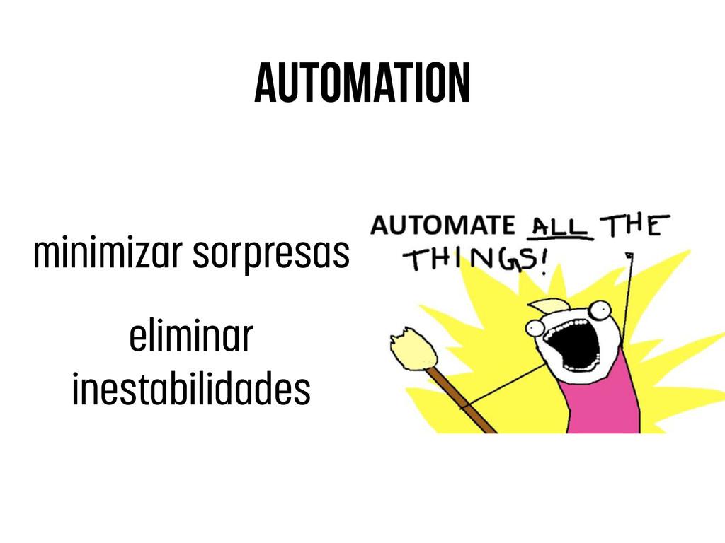 automation minimizar sorpresas eliminar inestab...