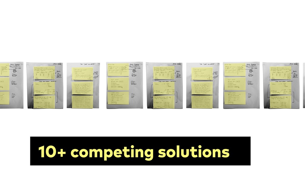 10+ competing solutions