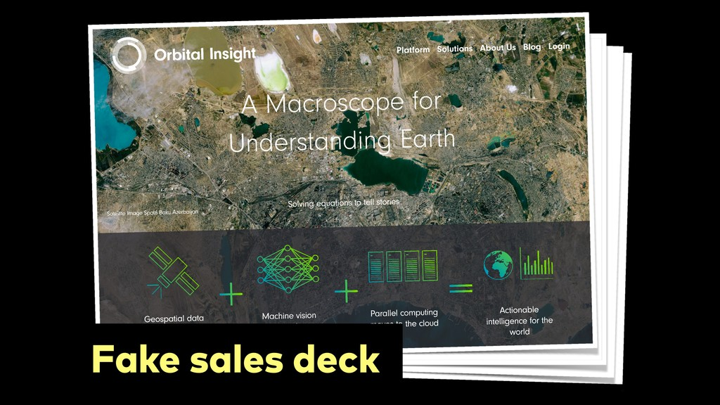 Fake sales deck