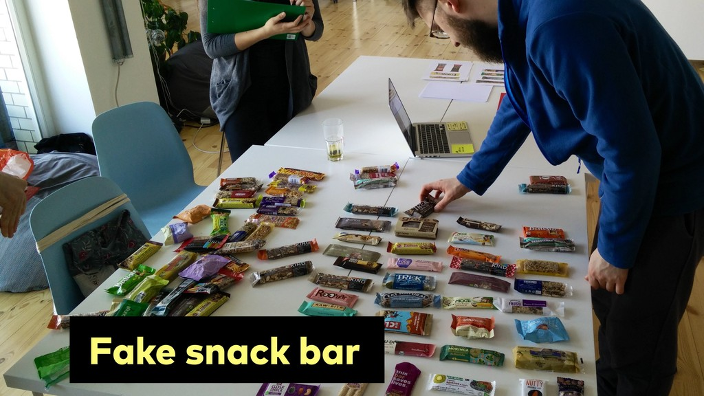 Prepared by ! 130 Fake snack bar