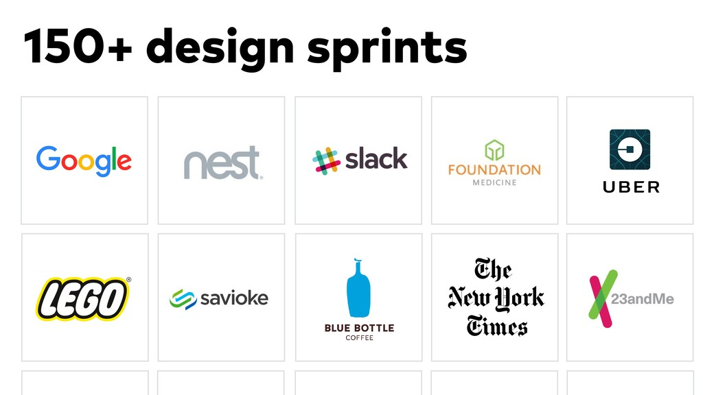 150+ design sprints
