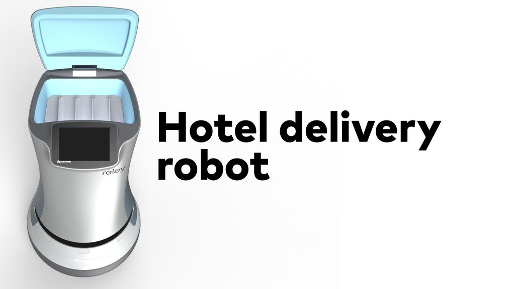 Hotel delivery robot