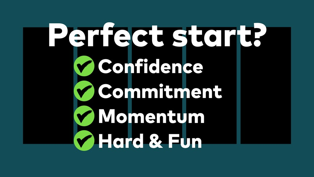 Perfect start? Confidence Commitment Momentum H...