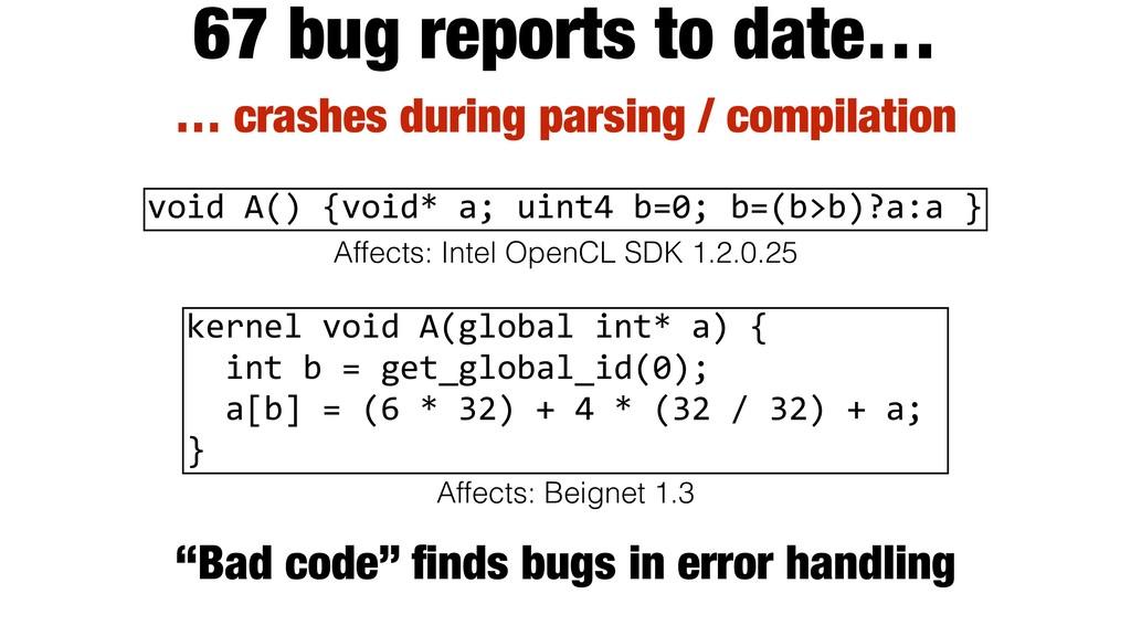 … crashes during parsing / compilation 67 bug r...