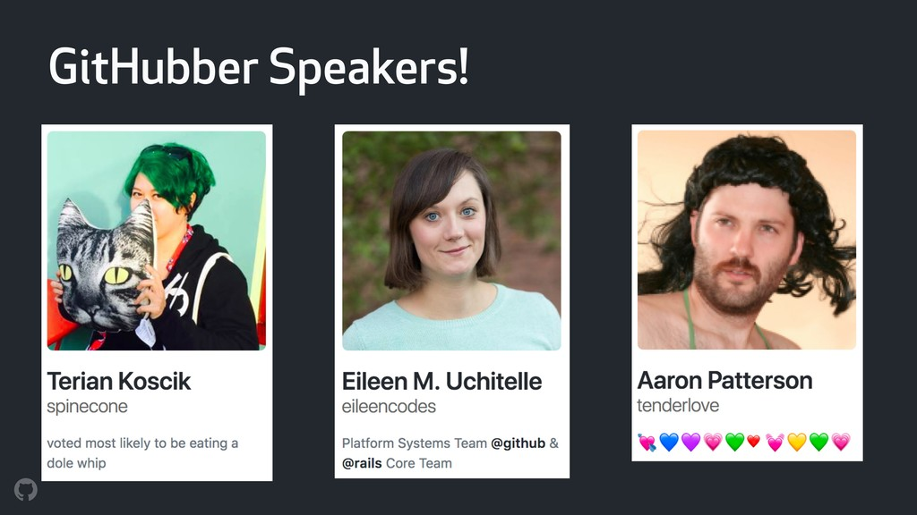 GitHubber Speakers!