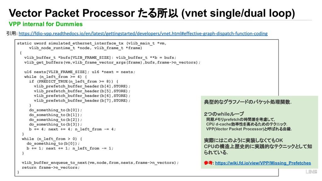 11 Vector Packet Processor たる所以 (vnet single/du...
