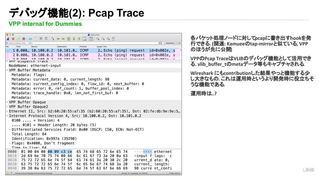 19 デバッグ機能(2): Pcap Trace VPP internal for Dummi...