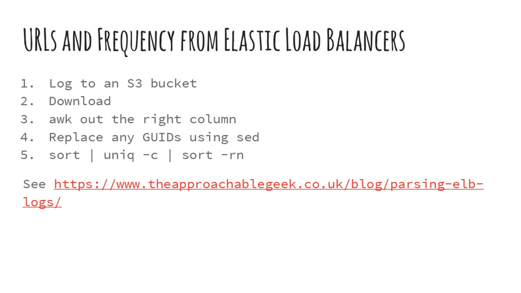 URLs and Frequency from Elastic Load Balancers ...