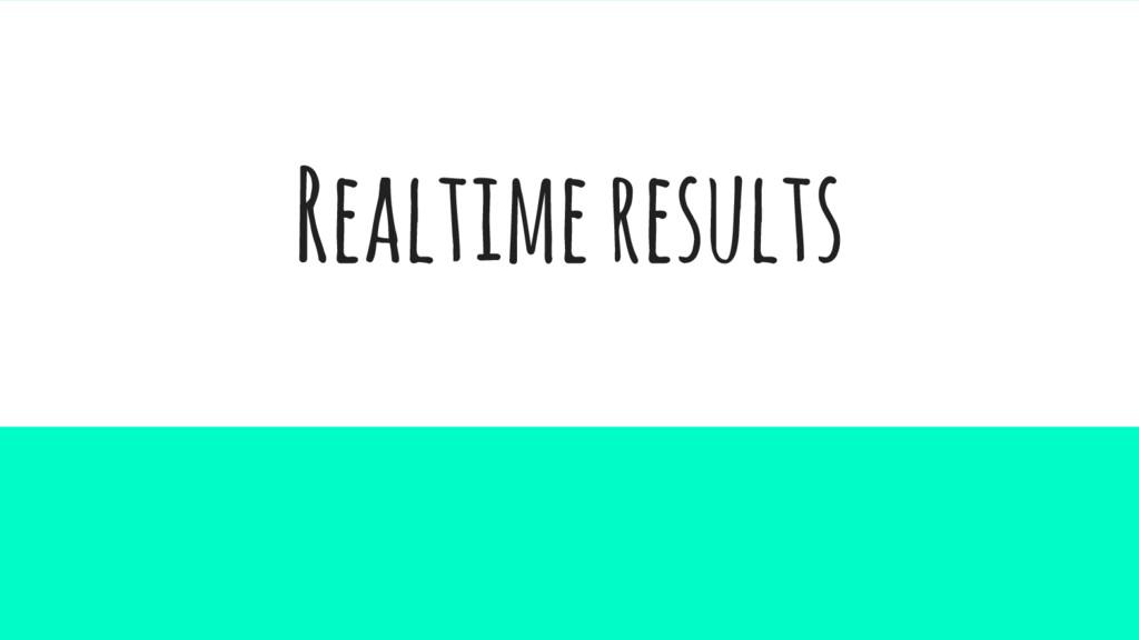 Realtime results