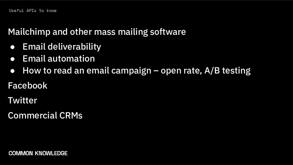 Useful APIs to know Mailchimp and other mass ma...