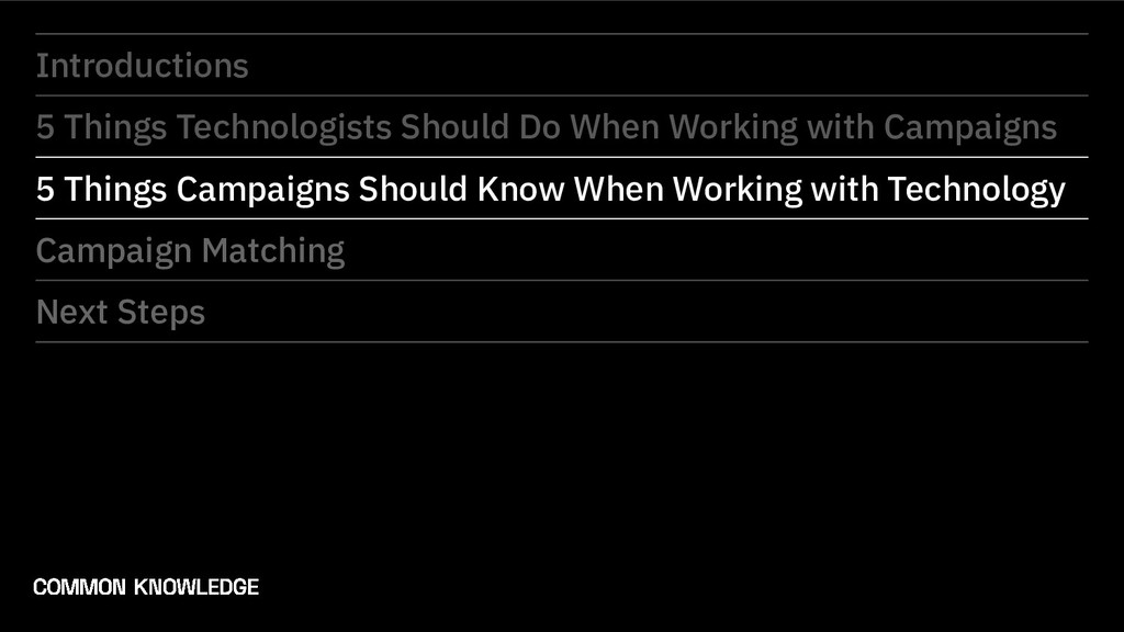 Introductions 5 Things Technologists Should Do ...