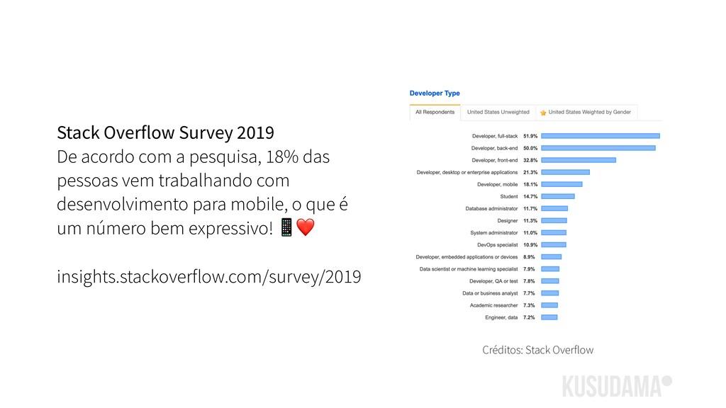 Stack Overflow Survey 2019 De acordo com a pesq...