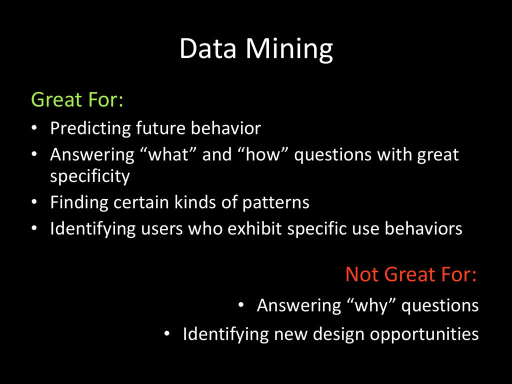 Data Mining • Predicting future behavior • Answ...