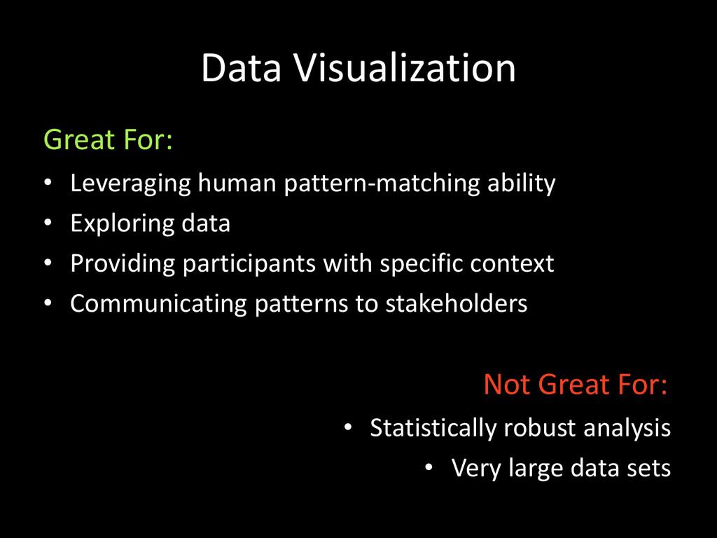 Data Visualization • Leveraging human pattern-m...