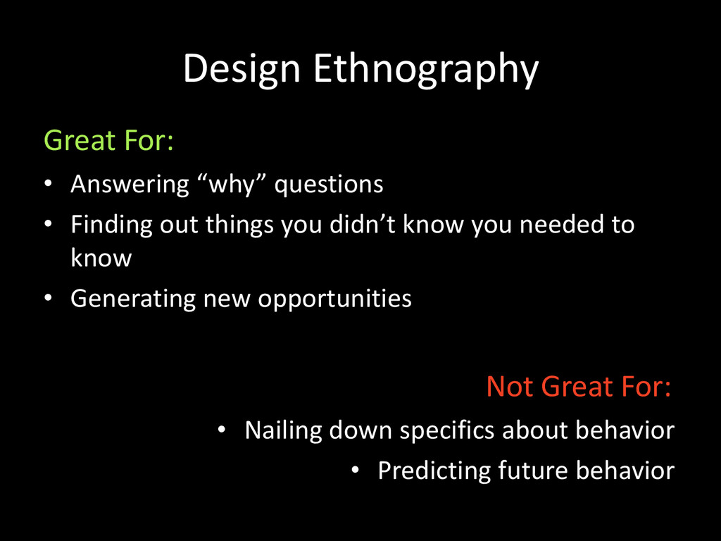 """Design Ethnography • Answering """"why"""" questions ..."""